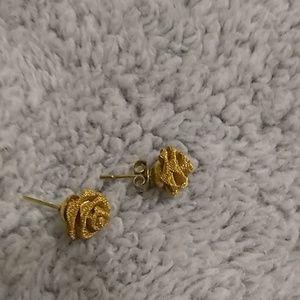 Golden rose earings